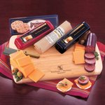 Wisconsin Variety Package - 2 Cheddar Cheeses, Summer Sausage, Board