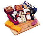 Deluxe Cheese & Sausage Sampler with Logo Cutting Board