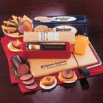 Just Great Cheese Assortment and Logo Cutting Board