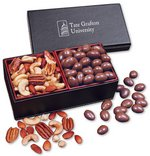 Faux Leather Box with Chocolate Almonds & Deluxe Mixed Nuts