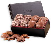 Faux Leather Box with English Toffee & Pecan Turtles