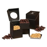 Faux Leather Desktop Storage Box with Virginia Peanuts and Chocolate Peanut