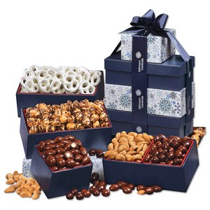 Snowflake Gift Tower of Treats