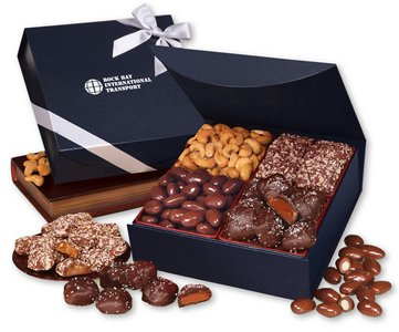 Magnetic Closure Keepsake Box with Chocolate and Nuts