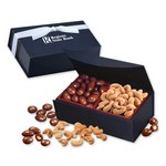 Chocolate Almonds & Cashews in Navy Magnetic Closure Box