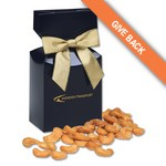 Honey Roasted Cashews in Navy Gift Box