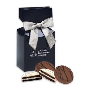 Chocolate Covered Oreos in Navy Gift Box with Logo