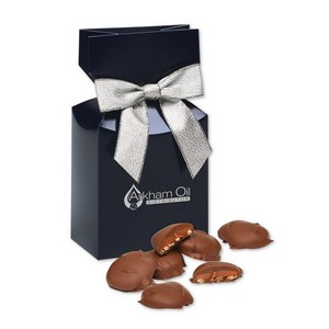 Pecan Turtles in Navy Gift Box with Logo