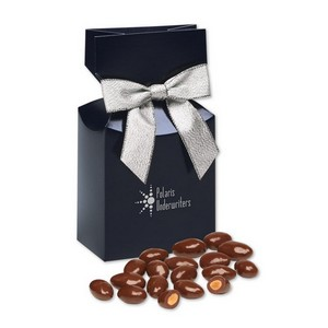 Chocolate Covered Almonds in Navy Gift Box with Logo