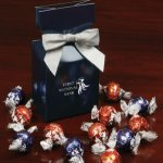Lindt-Lindor Chocolate Truffles in Blue Gift Box with Logo