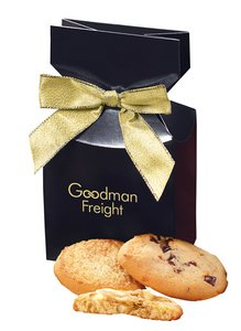 Fresh Baked Cookies in Navy Gift Box with Logo