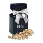 Jumbo California Pistachios in Navy Gift Box with Logo