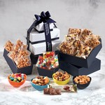 Individually-Wrapped Sweet & Salty Snacks Tower - Candy, Nuts and Granola
