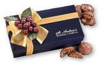 Pecan Turtles in Navy Blue Gift Box with Logo