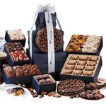 Chocolates, Nuts, Pretzels & Popcorn Executive Gourmet Gift Tower