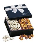 Chocolate Pretzels and Caramel Corn Crunchy Delights Gift Box