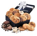 Gourmet Cookie & Brownie Assortment in Logo Navy Gift Box