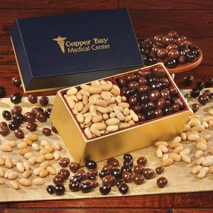 Choice Virginia Peanuts & Chocolate Covered Peanuts - Navy Box