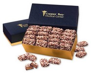 English Butter Toffee in Navy and Gold Gift Box
