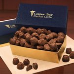Cocoa Dusted Truffles in Navy and Gold Gift Box
