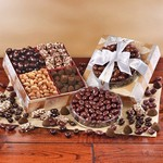 Elegant Traditions Gift Box with Toffee, Nuts and Truffles