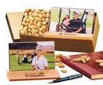 Hardwood & Acrylic Photo Frame with Choice Virginia Peanuts