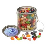Clear Miniature Paint Bucket Pails with Jelly Belly Jelly Beans