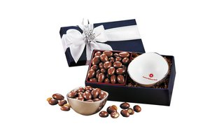 Rombe? Bowl with Chocolate Covered Almonds