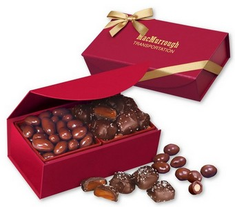 Chocolate Covered Almonds & Chocolate Sea Salt Caramels in Magnet