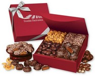 Magnetic Closure Keepsake Box with Assortment of Chocolates and Nuts