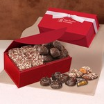 Toffee & Sea Salt Almond Turtles in Red Magnetic Closure Box