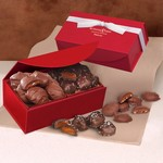 Chocolate Sea Salt Caramels & Pecan Turtles in Red Magnetic Gift Box