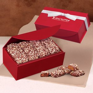English Butter Toffee in Red Magnetic Closure Box