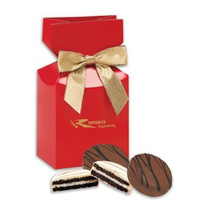 Chocolate Covered Oreos in Red Gift Box with Your Logo