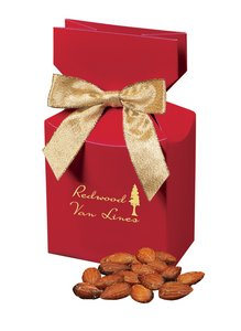 Mediterranean Style Almonds in Red Gift Box with Your Logo