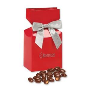 Chocolate Covered Almonds in Red Gift Box with Your Logo