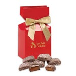 Butter Almond Toffee in Red Premium Delights Gift Box