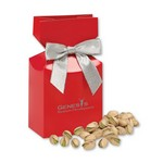 Jumbo California Pistachios in Red Gift Box with Your Logo