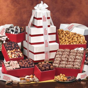The Park Avenue Ultimate Tower of Treats in Red -FREE SHIPPING