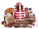Gourmet Treats Red & Silver Colossal Party Gift Tower