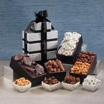 Pure Decadence Black and Silver Gift Tower