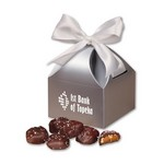 Sea Salt Almond Turtles in Silver Classic Treats Gift Box