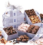 Gourmet Chocolate, Candy and Nuts Gift Tower of Favorites