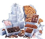 Chocolates and Nuts Grand Snowflake Gift Tower