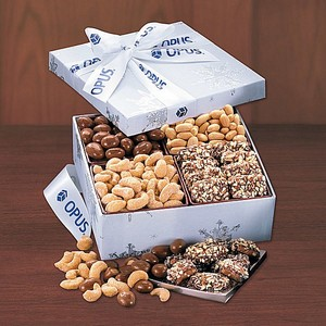 Snowflake Gourmet Treats Sampler Gift Box