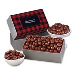 Chocolate Covered Almonds with Plaid Sleeve
