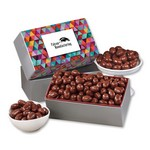 Chocolate Covered Almonds with Triangles Sleeve