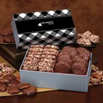 Toffee & Turtles in Gift Box with Black Plaid Sleeve
