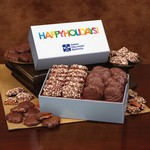 Toffee and Turtles in Gift Box with Happy Holidays Sleeve