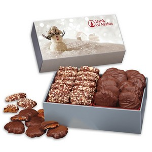 Toffee & Turtles in Gift Box with Snowman Sleeve